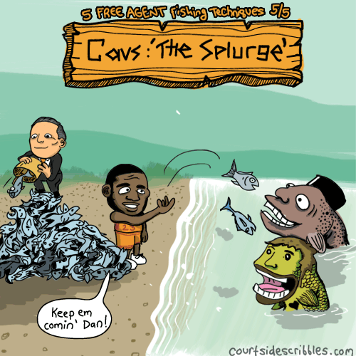 lebron cartoons fishing for free agents cavs comics feeding love and shumpert