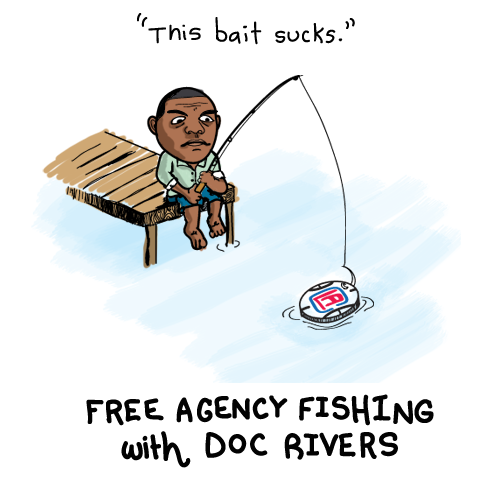 doc rivers comic nba cartoons fishing for free agents this bait sucks