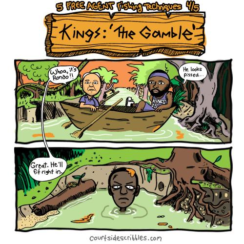 demarcus cousins cartoons sacramento kings comics rajon rondo in swamp