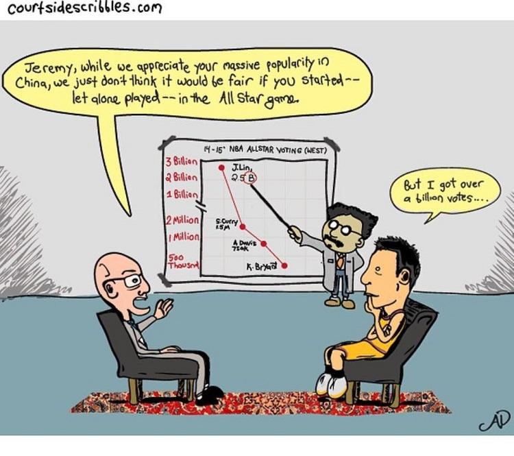 jeremy lin cartoons adam silver allstar billion votes chart scientist linsanity comic