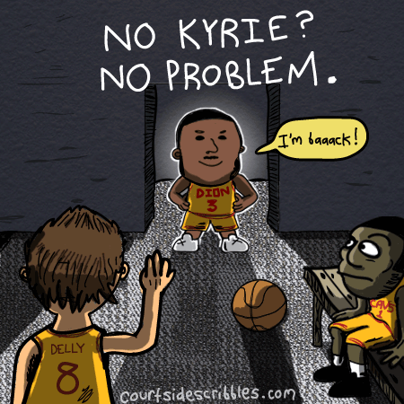 dion waiters cartoon nba comic locker room no kyrie no problem