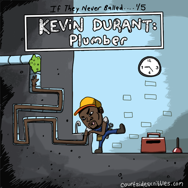 kevin durant cartoons plumber long arms pipes nba comics